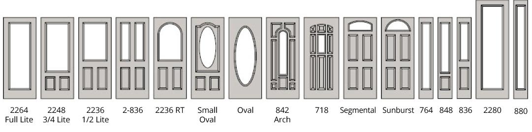 Doorglass Shapes  sc 1 st  Condoor & Interior u0026 Exterior Wood/Metal Doors | Vancouver | Port Coquitlam pezcame.com
